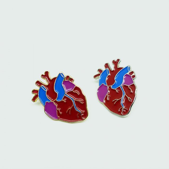 2x heart variations - gold and silver nickel