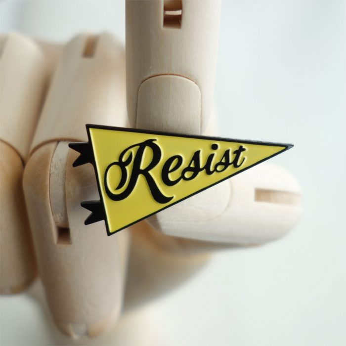 Yellow Resist pin
